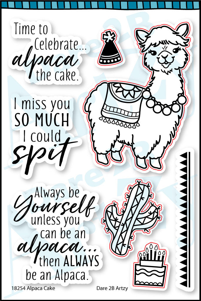Alpaca Cake Stamp Set