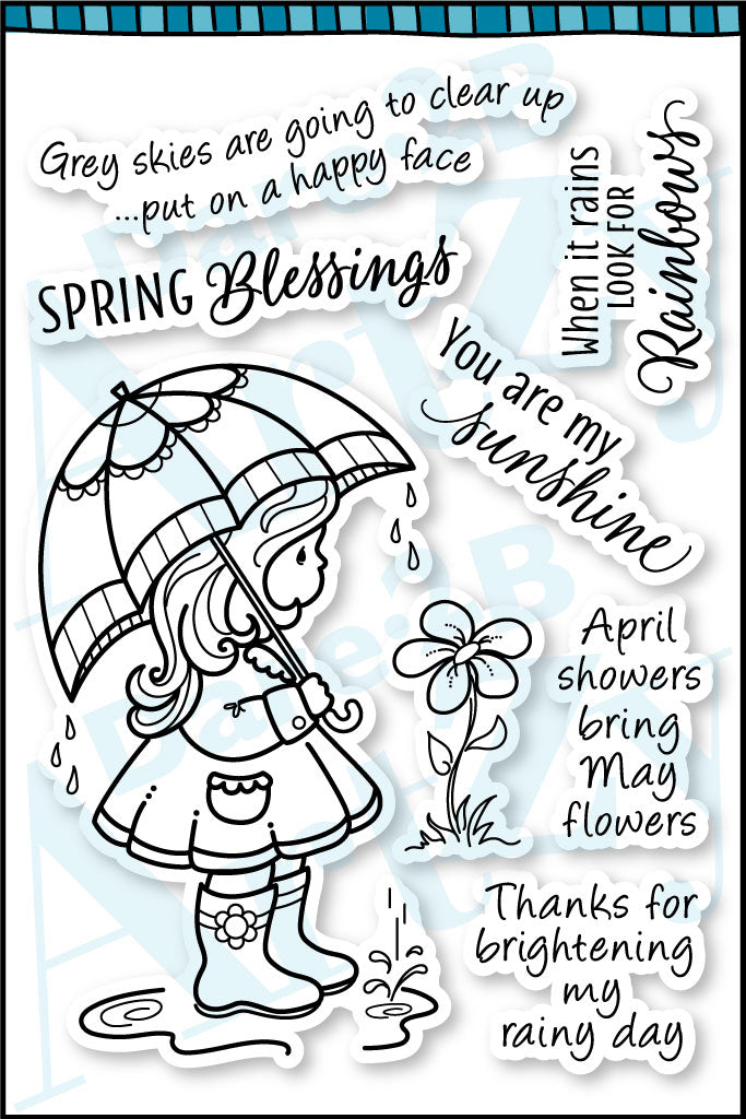 April Showers Stamp Set