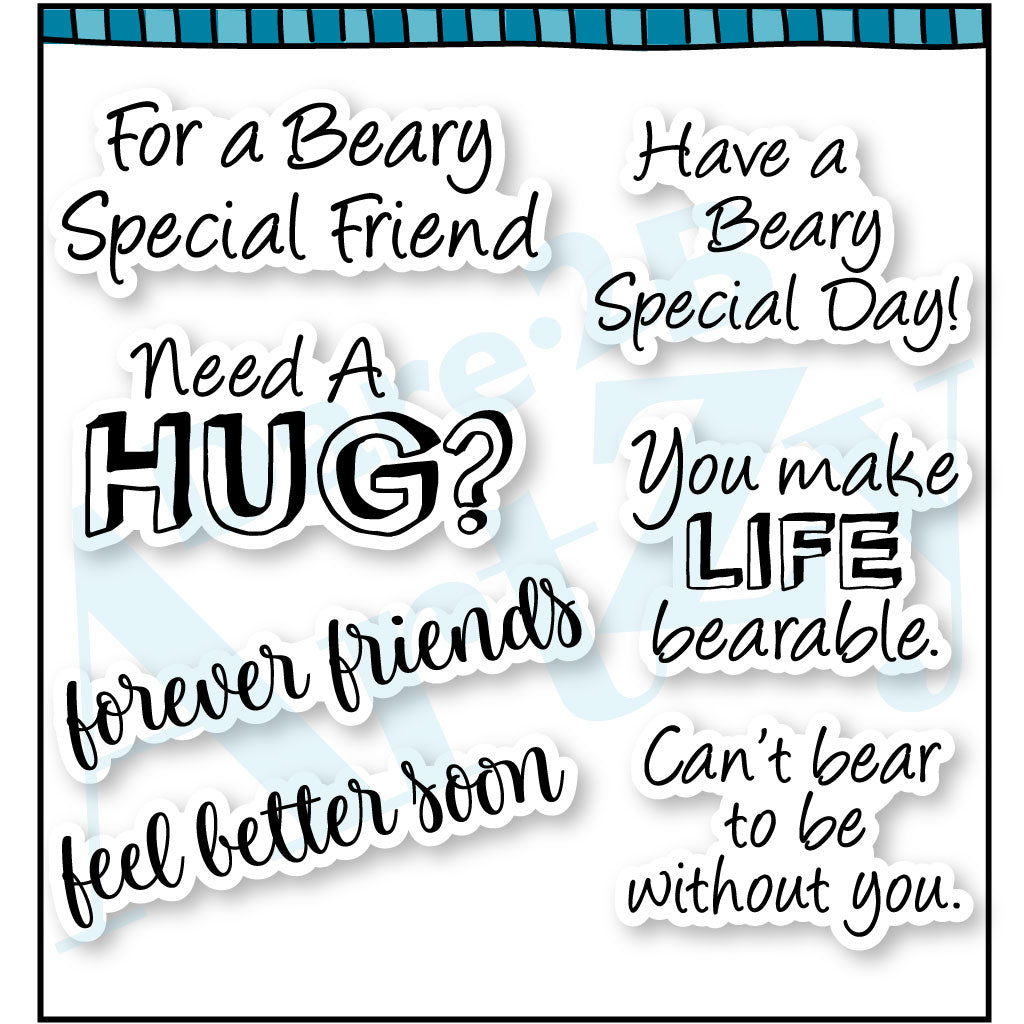 Beary Special Sentiments Stamp Set