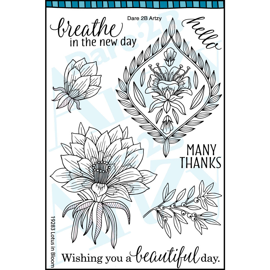 Lotus Blooming stamp set