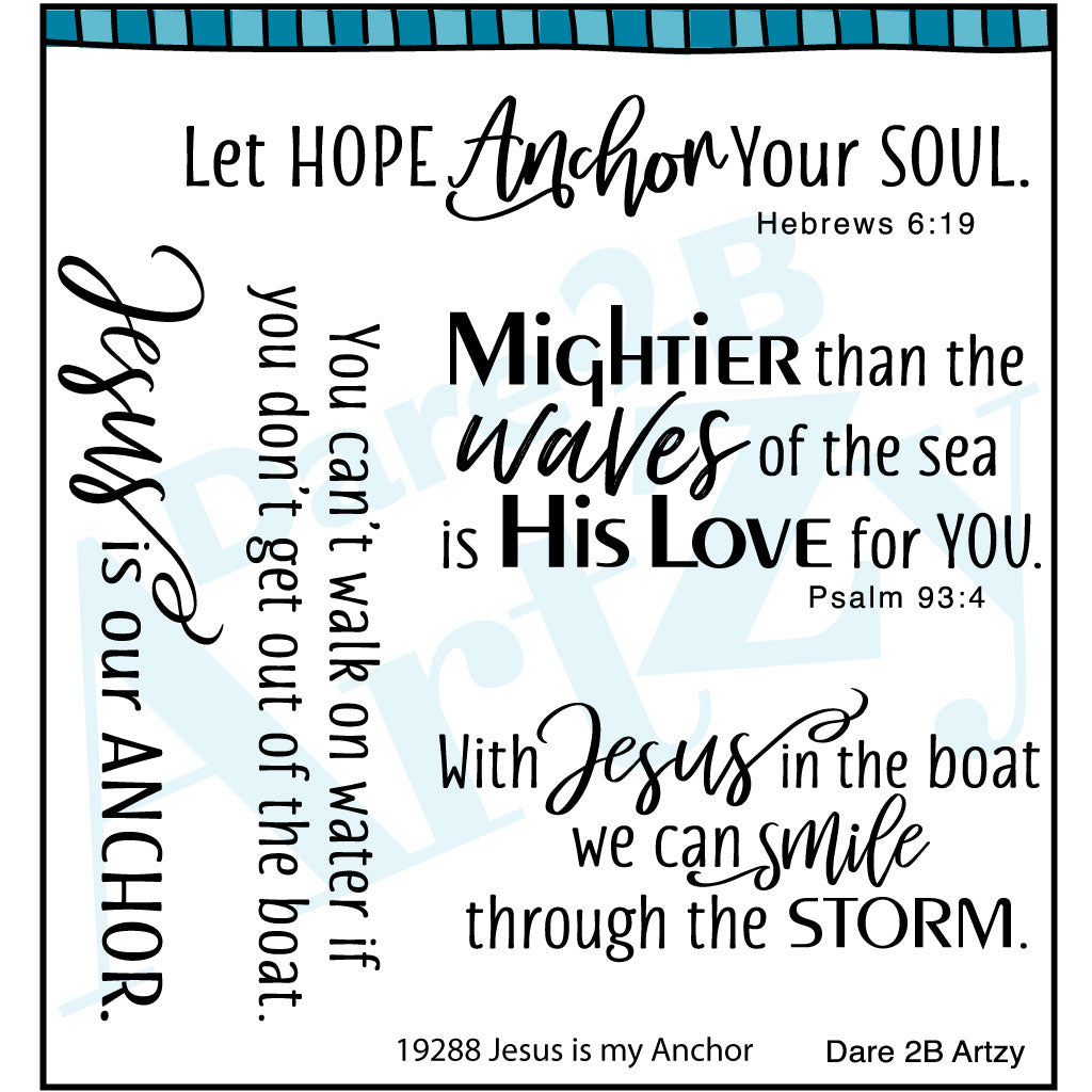 Jesus is my Anchor Stamp Set