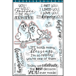 clear stamp for handmade anniversary cards or love cards