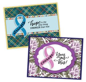 Card samples using the Be Strong stamp set along with the boxing glove and ribbon die.