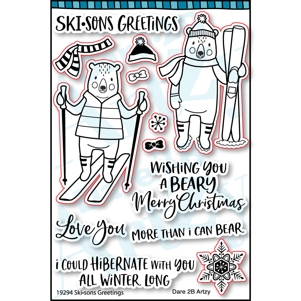 Skisons Greetings Stamp Set (NEW PRODUCT - Ships Approximately August 31st, 2019)
