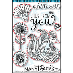 Paisley Peacock Stamp Set (NEW PRODUCT - Ships Approximately August 31st, 2019)