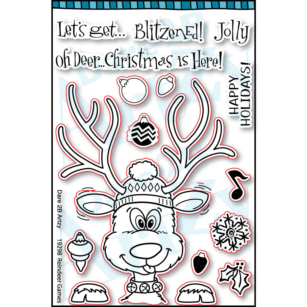 Reindeer Games Stamp Set (NEW PRODUCT - Ships Approximately August 31st, 2019)
