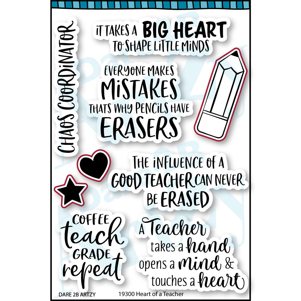 Heart of a Teacher Stamp Set