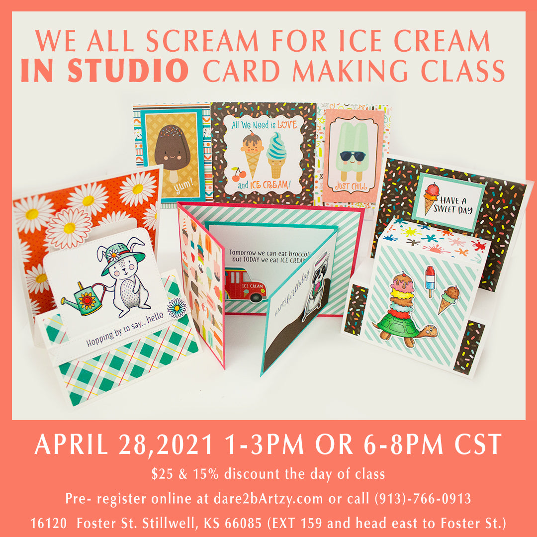 We All Scream For Ice Cream Card Class