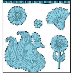 Paisley Peacock Stamp Set