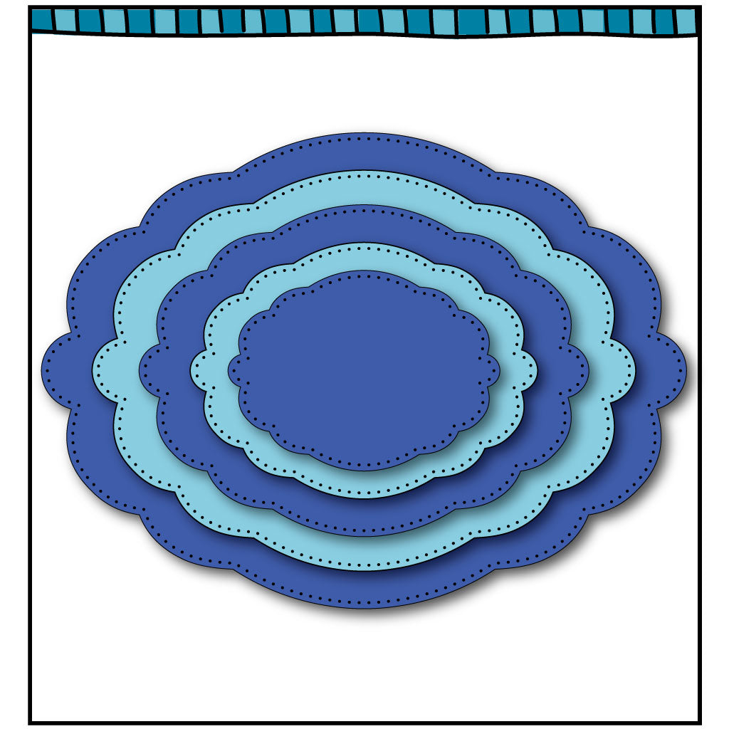 Oval Scalloped Framelit Dies