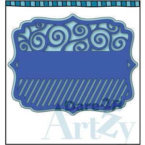 Swirl & Stripes Background Die