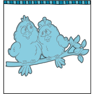 coordinating steel die for Love Bird clear stamp