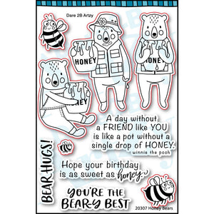 Honey Bears Stamp Set (Shipping Approximately March 15th)