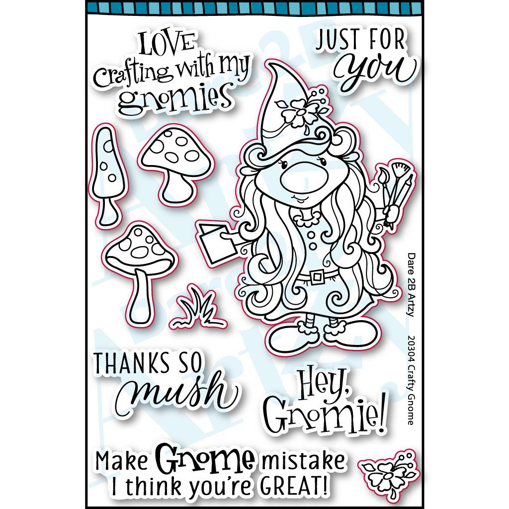 Crafty Gnome Stamp Set (Shipping Approximately March 15th)