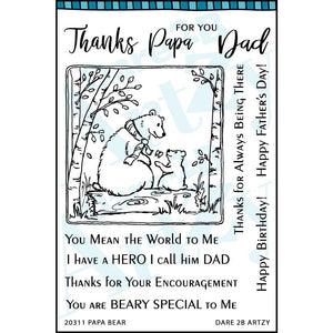 Papa Bear Stamp Set (Shipping Approximately March 15th)
