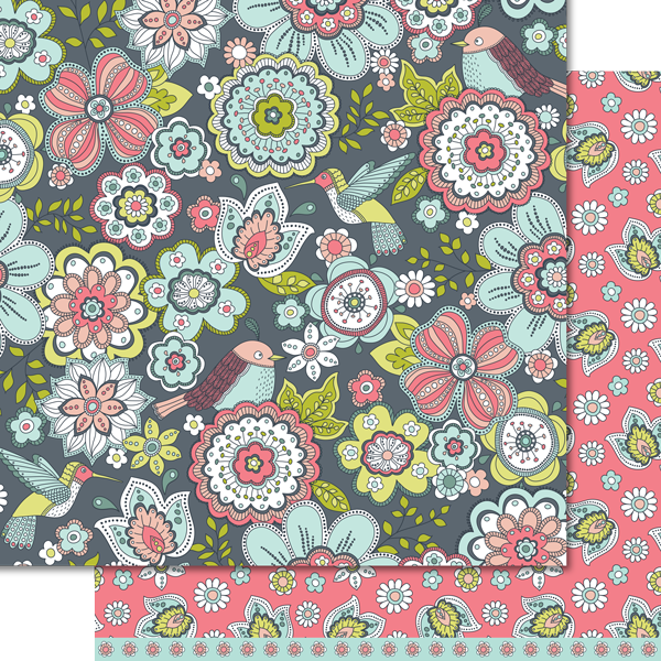 In Bloom Paper Pack (15 Sheets)