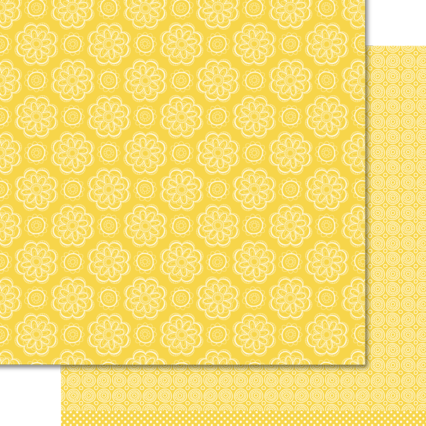 Artzy Doodles - Sunset Yellow Paper Pack (15 Sheets)