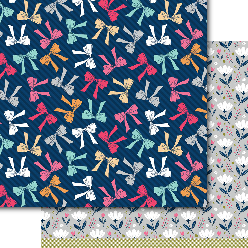 Bows & Blooms Paper Pack (15 Sheets)