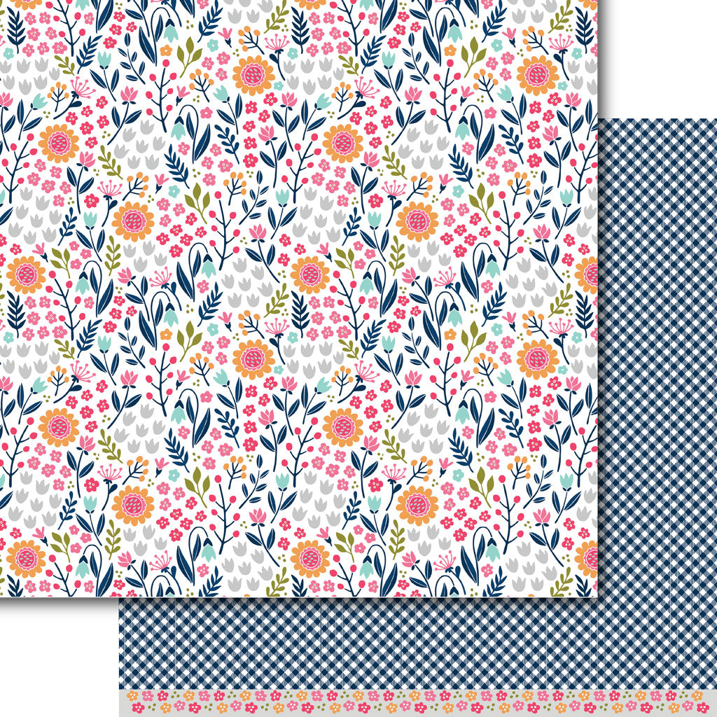 Bright Blooms Paper Pack (15 Sheets)