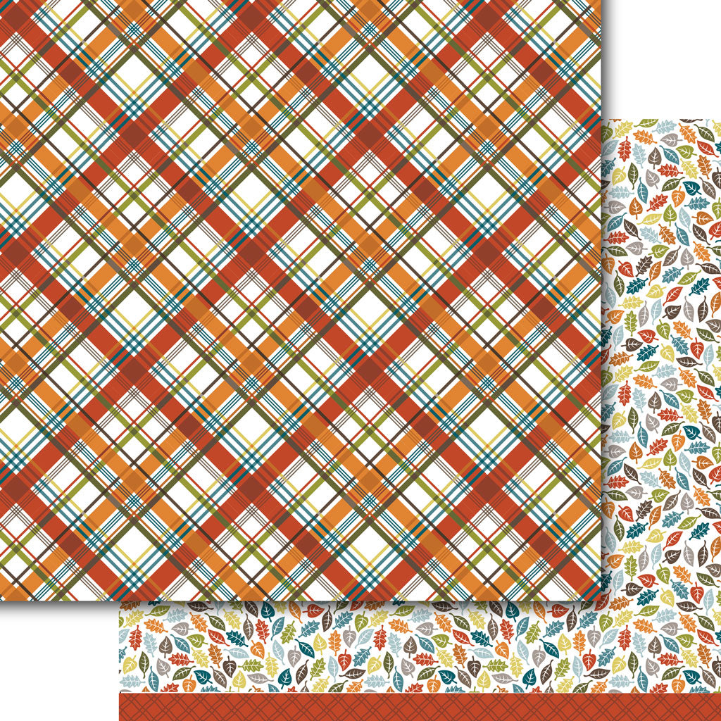 Autumn Plaid Paper Pack (15 papers)