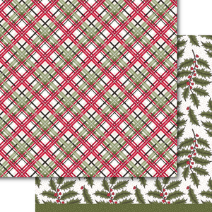 Holly & Plaid Paper Pack (15 sheets)