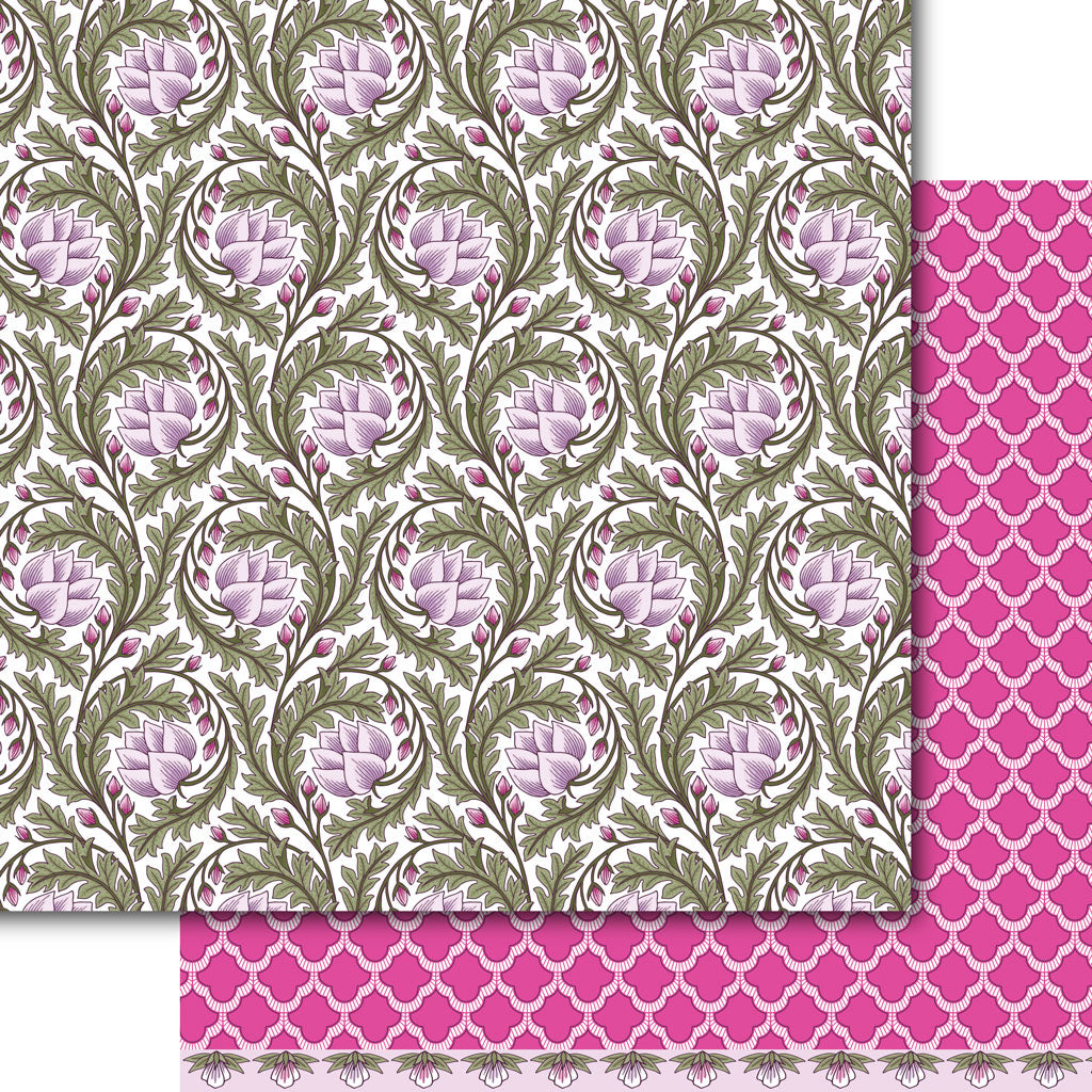 Lavender Lotus Paper Pack (15 Sheets)