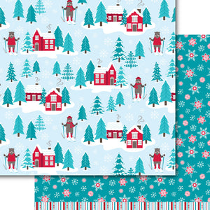 Frosty Chalet Paper Pack (15 Sheets)