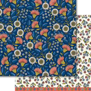 Blooms at Midnight Paper Pack (15 Sheets)