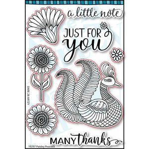 Paisley Peacock Paper Pack (15 Sheets)