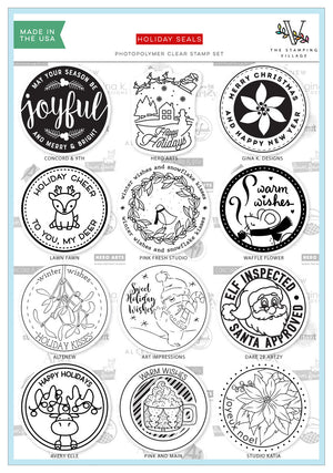 The Stamping Village 2019 Holiday Seals