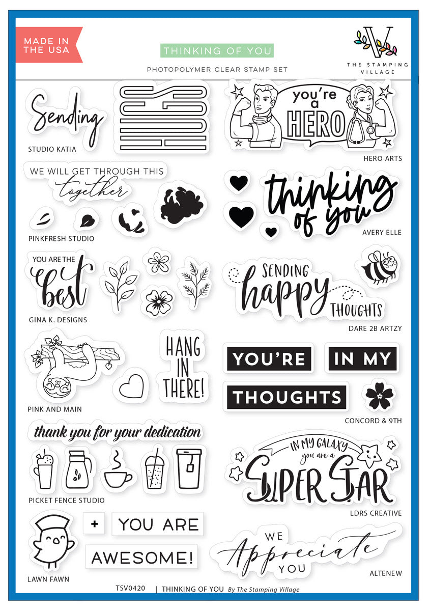 Stamping Village - 2020 Thinking of You Stamp Set