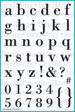 Alphabet 1 (Lowercase) Stamp Set