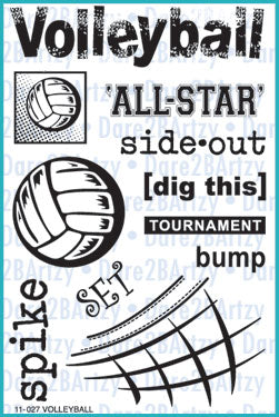 Volleyball Stamp Set