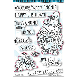 Flower Gnome Stamp Set (Shipping Approximately March 15th)