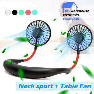 Mini USB Portable Rechargeable Neck Fan
