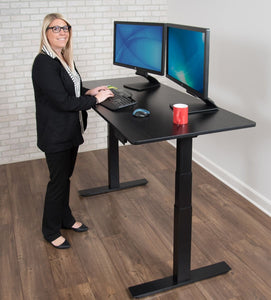"LUXOR 60"" 3-STAGE DUAL MOTOR ELECTRIC STAND UP DESK"