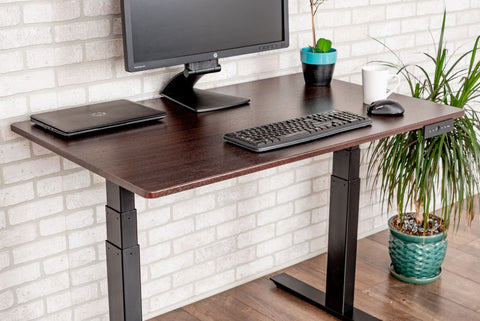 "Image of LUXOR 60"" 3-STAGE DUAL MOTOR ELECTRIC STAND UP DESK"
