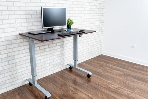 "LUXOR 48"" HIGH SPEED CRANK ADJUSTABLE DARK WALNUT STAND UP DESK"