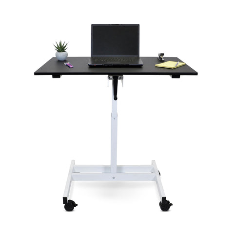 "LUXOR 40"" Single column MOBILE - CRANK STAND UP DESK"