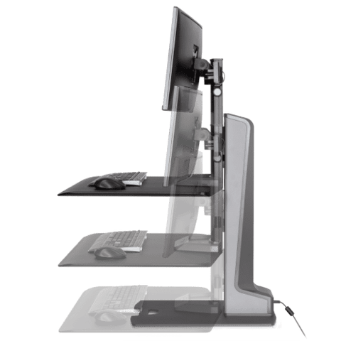 Image of Winston-E® Sit-Stand Workstation Dual Monitor Mount