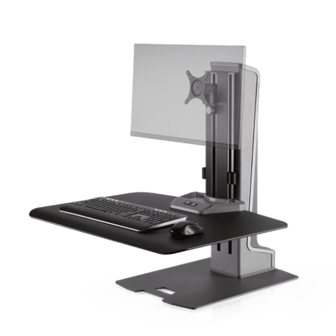 Image of Winston-E® Sit-Stand Workstation Single Monitor Mount