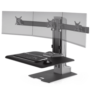 Winston-E® Sit-Stand Workstation Triple Monitor Mount