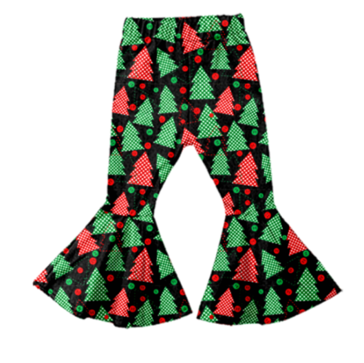 Button Trees Christmas Holiday Bell Bottoms