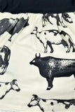 Restock: Black & Ivory Moo Cow Dress [Preorder]
