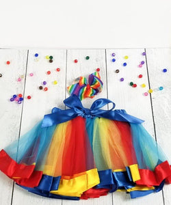 Colorful Tutu with Matching Hairbow - Primary
