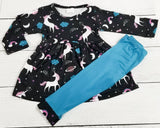 Unicorns in Space Dress with Pattern Cuff Leggings [NEW, Ready To Ship!]