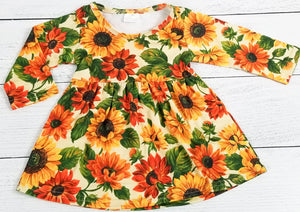 Vibrant Sunflowers Dress [NEW, Ready to Ship!]
