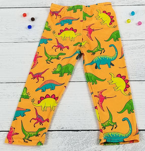 ComfyCute Pants - Tangerine Triassic Friends