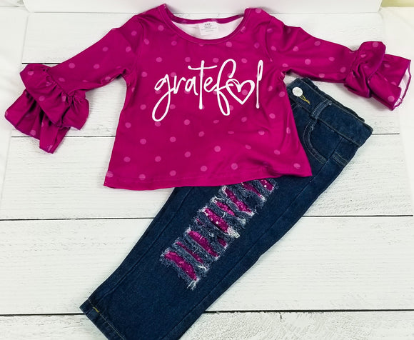 Plum Grateful Denim Outfit