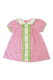 Pink clover back to school St.Patrick's Day girls dress 400952